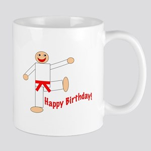 Martial Arts Red Belt Birthday Mug