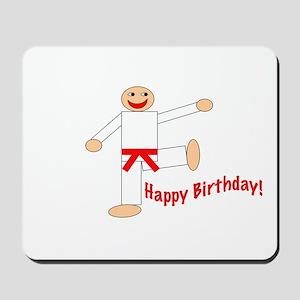 Martial Arts Red Belt Birthday Mousepad