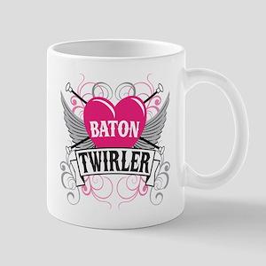 Baton Twirler Heart & Wings Mug