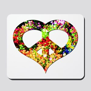 Flower Peace Heart Mousepad