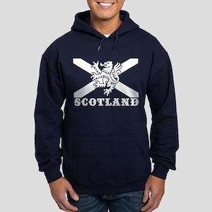 Flag of Scotland with Lion Hoodie (dark)