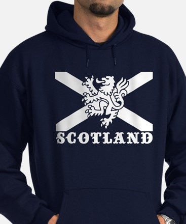 Flag of Scotland with Lion Hoodie (dark)
