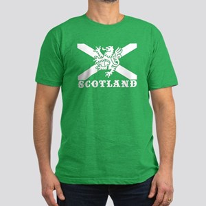 Flag of Scotland with Lion Men's Fitted T-Shirt (d