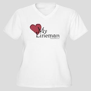 Love My Lineman Plus Size T-Shirt