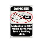 Danger - Rap music Rectangle Magnet