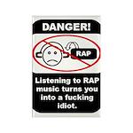 Danger - Rap music Rectangle Magnet (100 pack)