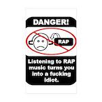 Danger - Rap music Rectangle Sticker 10 pk)