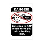 Danger - Rap music Rectangle Sticker 50 pk)