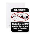 Danger - Rap music Greeting Card