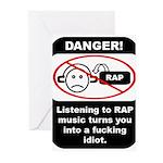 Danger - Rap music Greeting Cards (Pk of 10)
