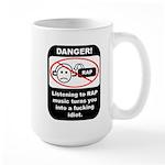 Danger - Rap music Large Mug