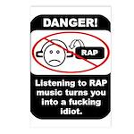 Danger - Rap music Postcards (Package of 8)