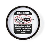 Danger - Rap music Wall Clock