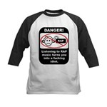 Danger - Rap music Kids Baseball Jersey