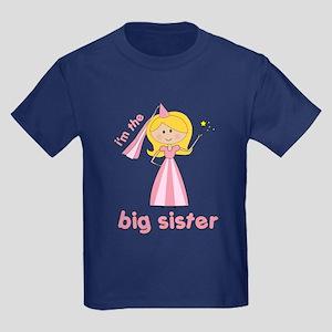 big sister t-shirts princesses Kids Dark T-Shirt