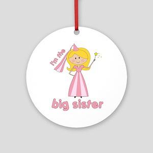 big sister t-shirts princesses Ornament (Round)