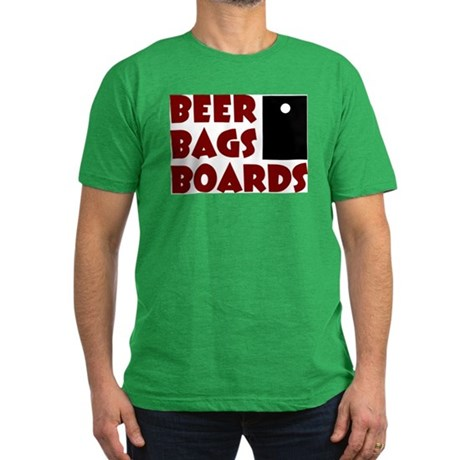 Beer Bags Boards Men's Fitted T-Shirt (dark)
