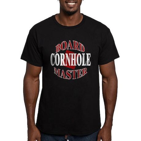 Cornhole Board Master Men's Fitted T-Shirt (dark)