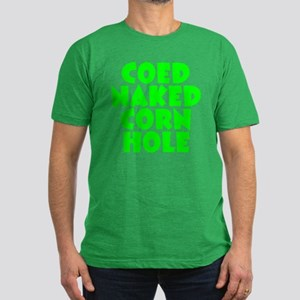 Naked Cornhole Men's Fitted T-Shirt (dark)
