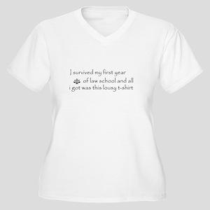I survived (1L) Women's Plus Size V-Neck T-Shirt