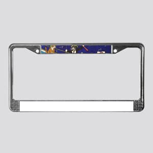 Fishing Cats License Plate Frame