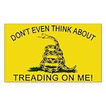 Gadsden Flag updated Rectangle Sticker