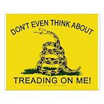 Gadsden Flag updated Small Poster