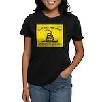Gadsden Flag updated Women's Dark T-Shirt