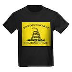 Gadsden Flag updated Kids Dark T-Shirt