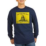 Gadsden Flag updated Long Sleeve Dark T-Shirt