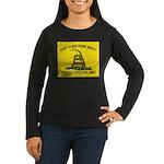 Gadsden Flag updated Women's Long Sleeve Dark T-Sh