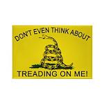 Gadsden Flag updated Rectangle Magnet (100 pack)