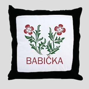 Babicka Throw Pillow