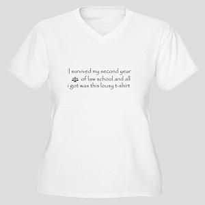 I survived (2L) Women's Plus Size V-Neck T-Shirt