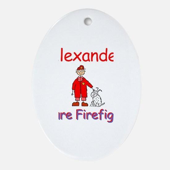 Alexander - Future Firefighte Oval Ornament