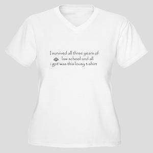 I survived (3L) Women's Plus Size V-Neck T-Shirt
