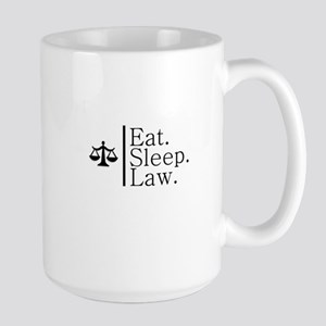 Eat. Sleep. Law. (Scales) Large Mug