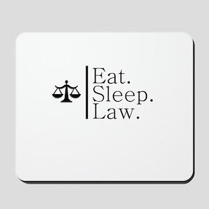 Eat. Sleep. Law. (Scales) Mousepad