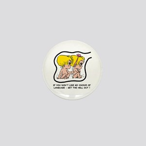 Blonde EGGBERT Get Out Mini Button