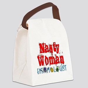 Nasty Woman Entomologist Canvas Lunch Bag