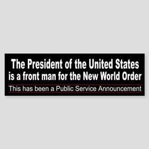 The President is NWO Front Man