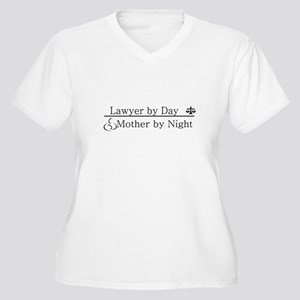 Lawyer by Day (Mother) Women's Plus Size V-Neck T-