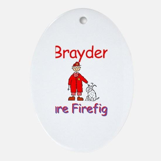 Brayden - Future Firefighter Oval Ornament