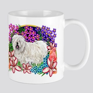 Puli Dogs Garden Flowers Mug
