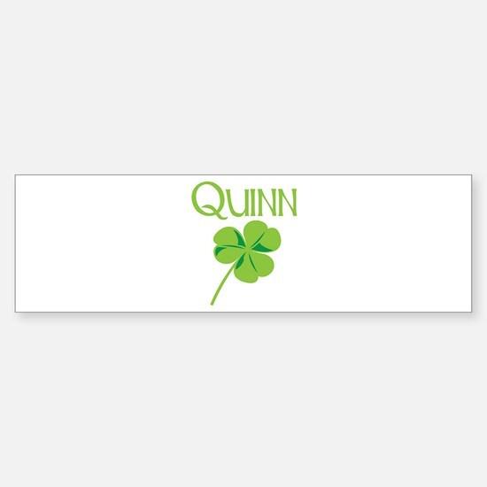 Quinn shamrock Bumper Bumper Bumper Sticker
