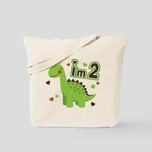 I'm 2 Dinosaur Princess Tote Bag