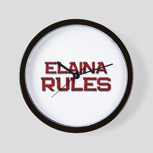 elaina rules Wall Clock