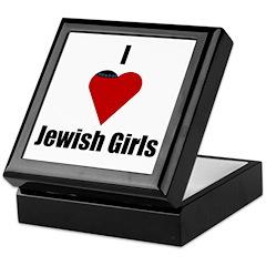 I Love (heart) Jewish Girls Keepsake Box