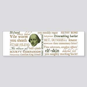 Shakespeare Insults Sticker (Bumper)