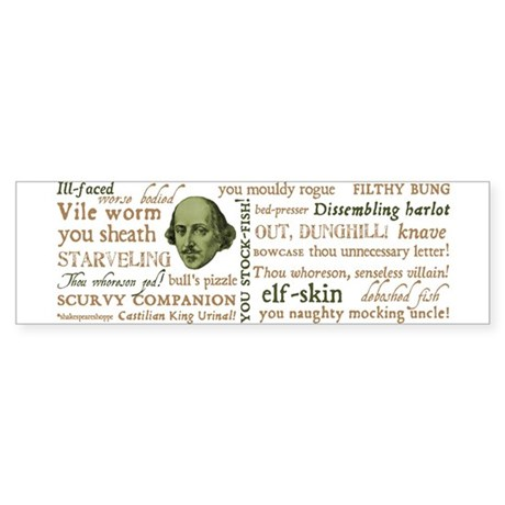 Shakespeare Insults Sticker (Bumper)